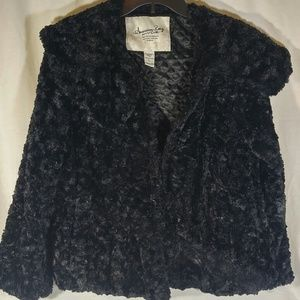 American Rag Cie Large Faux Fur Hook & Loop Jacket